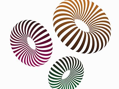 Striped 3D Shapes | Adobe Illustrator