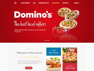 Domino's Pizza Website Design