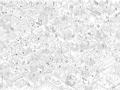 Isometric city ui city isometric isometric art isometric illustration isometry branding illustrator vector flat logo illustration
