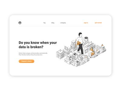 City-data  isometric illustration web app ux ui branding illustrator graphic vector icon illustration
