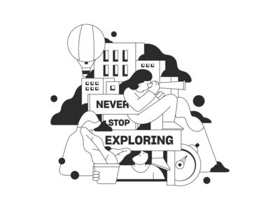 Steerage brand illustration