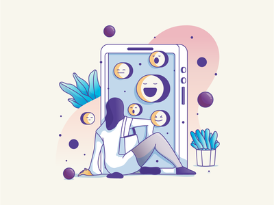 Experience minimal illustration art ui  ux character art illustrator art avatar graphic design illustration design illustrations character flat web ui ux doodle icon illustration experience