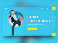 Fashion Collection Website Header