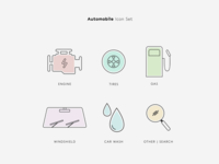 Automobile Maintenance Icons