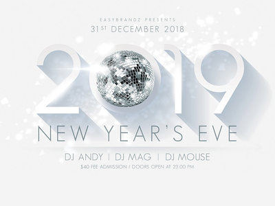 2019 New Years Flyer Template vector icon ui  ux design uielements new year 2019 new year eve mockup prototype clean web design layout 2019 template new year