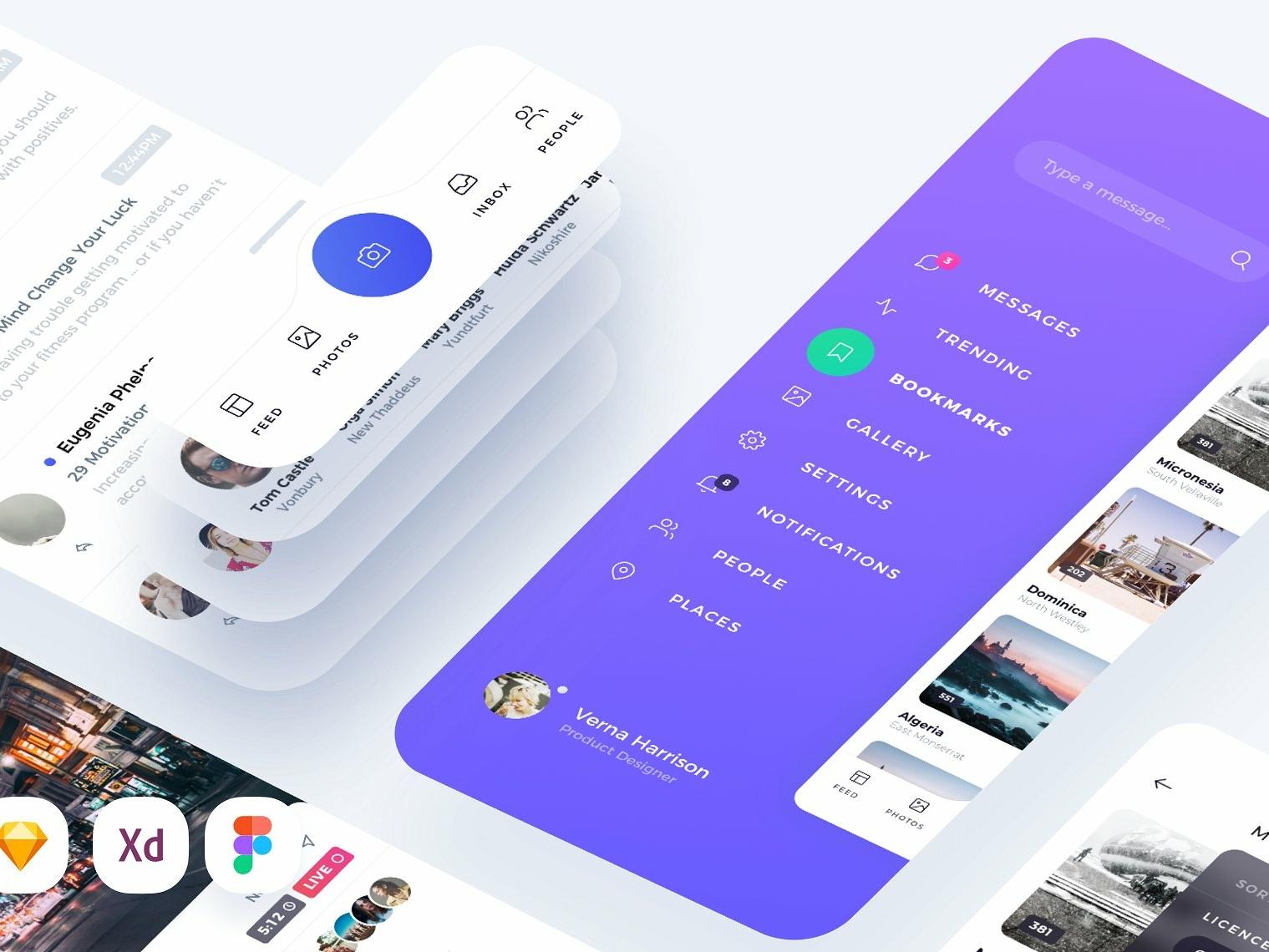 Atro Mobile UI Kit by UIUXE on Dribbble