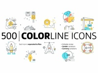 Color line icons