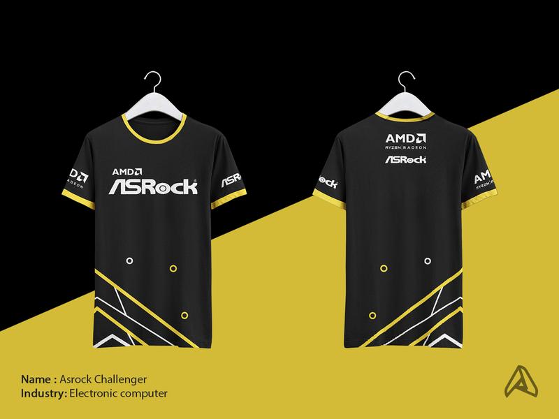 T-shirt Amd X Asrock branding branding design brand identity geometic amd asrock tshirts tshirt