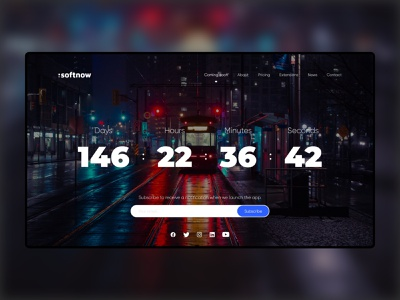 DailyUI - 014 - Countdown Timer landing page website concept webdesign uxdesign ux ui design countdowntimer dailyui