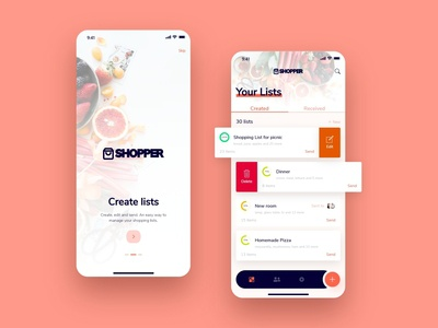 Shopping List App ux design uxui shopping shop mobile app design mobile design mobile app mobile ui mobile list shopping app conceptdesign concept uxdesign ux ui design