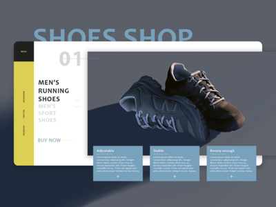 Design concept for shoes store (ecommerce)