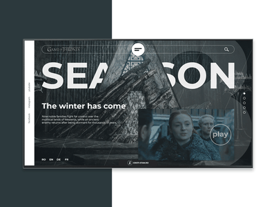 Weekly Design - Week 01 game of thrones weeklyui weekly challenge graphic  design front end site design landing page site conceptdesign concept website webdesign web 2.0 web uxdesign ux ui design