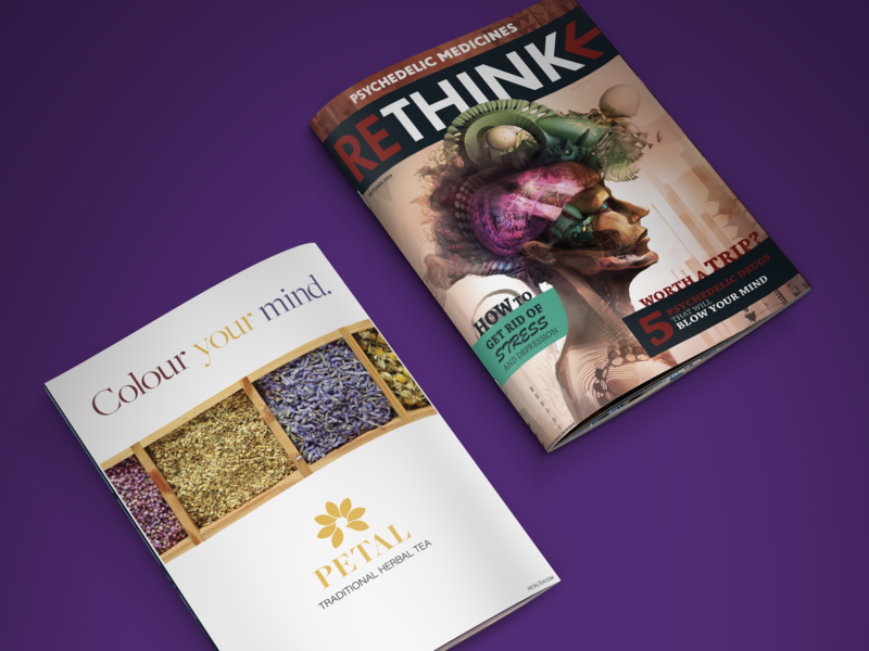 Rethink Magazine 🍄 dtp abstract vector design typography photo manipulation branding illustration sonkas citrom marton kocsis logo logos psychedelic editorial design graphic design advertisement magazine art