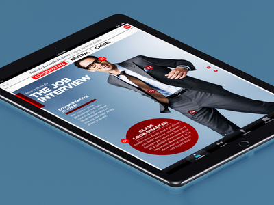 Gent's Guide to Style bold ios apple clean uxui ux ipad fashion