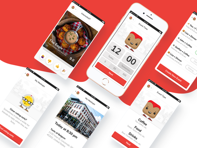 Meetloaf - Let's Catch Up! application website web ux ui app ui product minimal layout landing page dashboard dating tinder clean card app design app