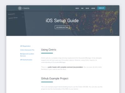Cintric Homepage - Setup Page