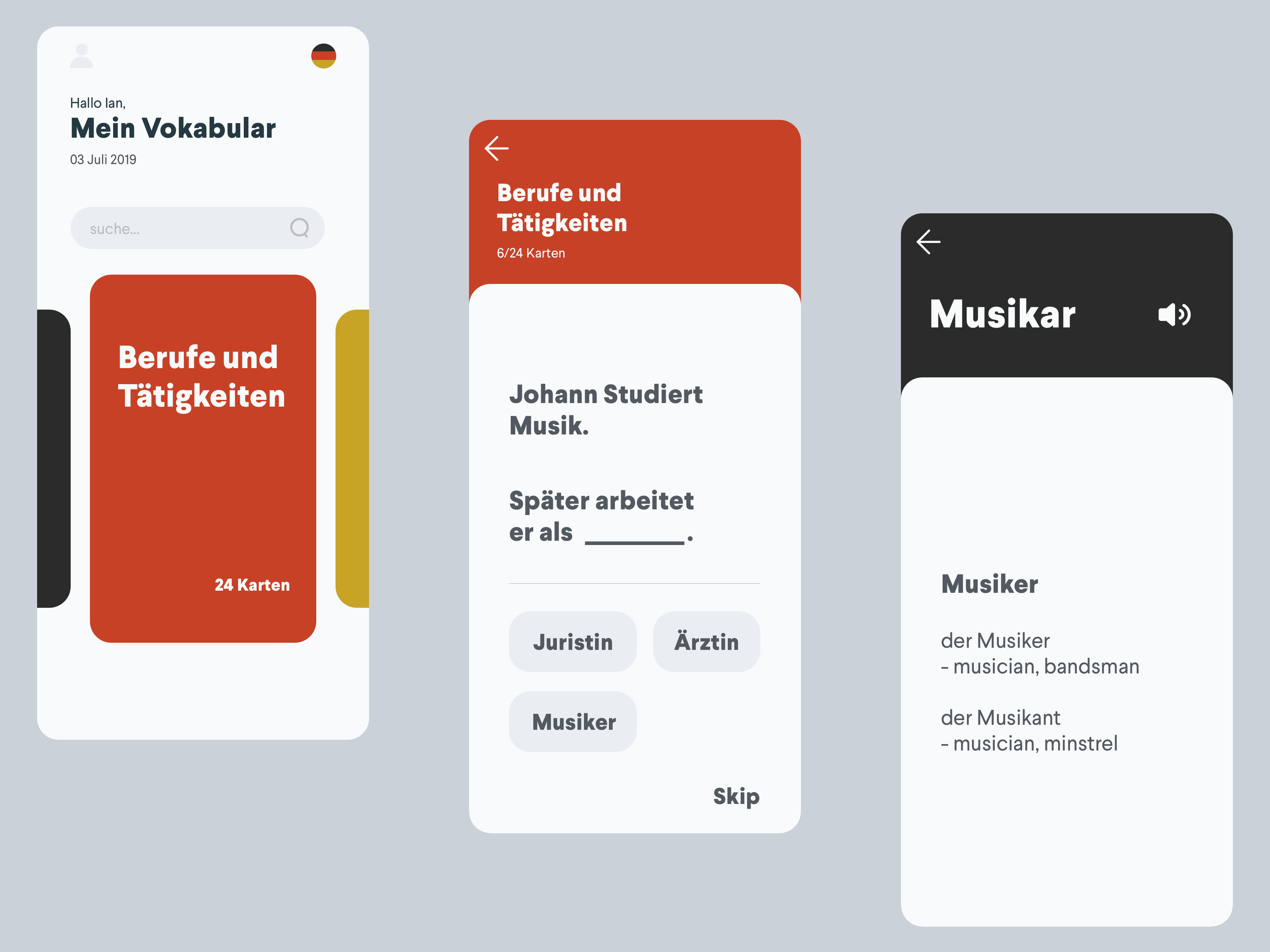 Trandy looking language app 2x