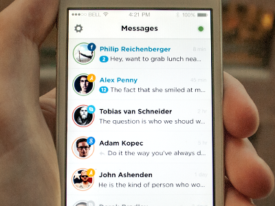 Tappable Prototype for IM Client flat prototype ios iphone im app chat ux interface ui application product