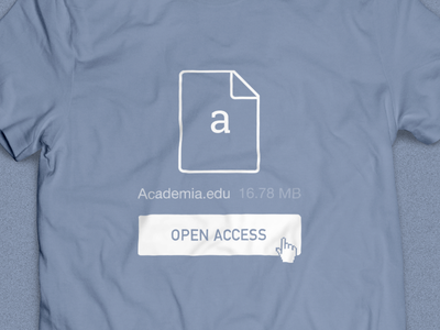 Academia.edu: Open Access T-Shirt t-shirt illustration design open access academia.edu apparel vector graphic button