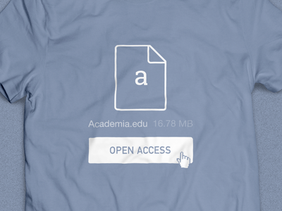 Academia.edu: Open Access T-Shirt