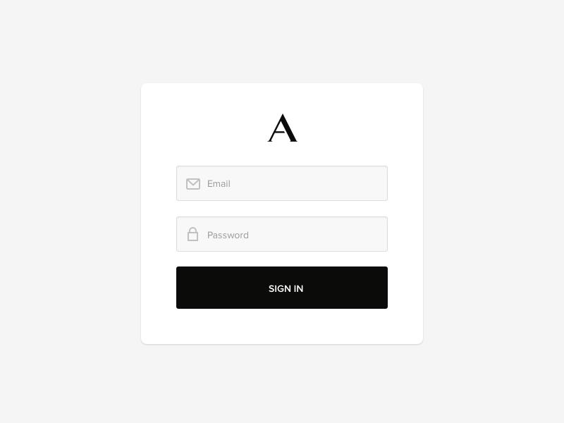 Alternative Brand & UI Exploration sign in icons form branding logo interaction design web ux ui app