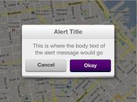 Custom Alert Notification Modal