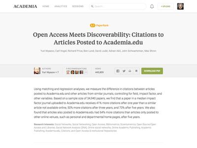 Academia Paper Page: Killing the PDF