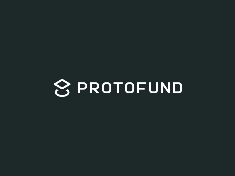 Proto Fund minimal futuristic vector illustration venture capital identity branding icon typography wordmark logo