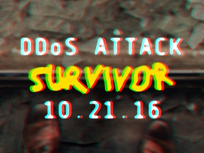 DDoS Attack 2016 Survivor Shirt shirt hack glitch typography illustration t-shirt