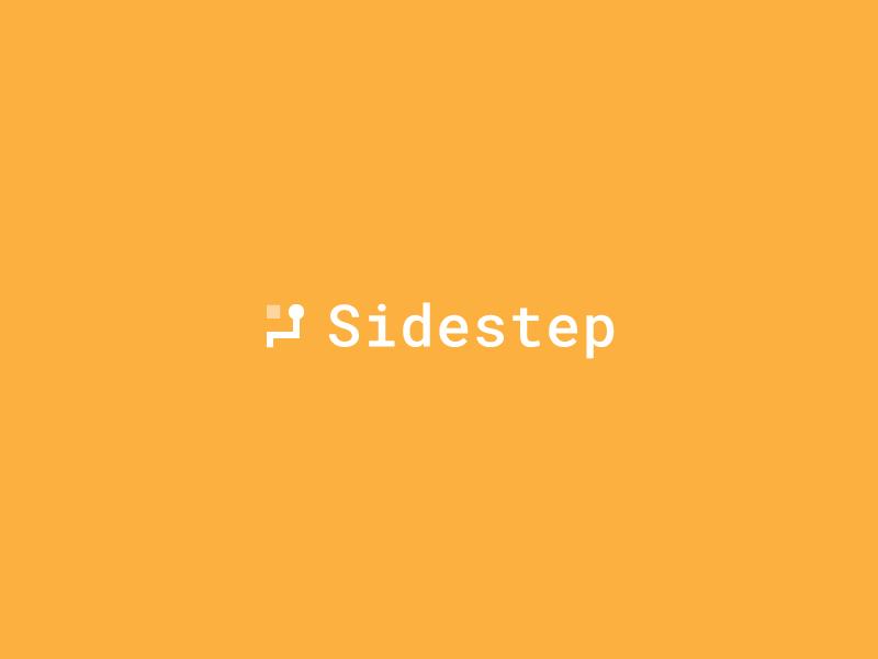 Sidestep logo symbol mark icon branding monospace illustration shapes geometric obstacles minimal modern