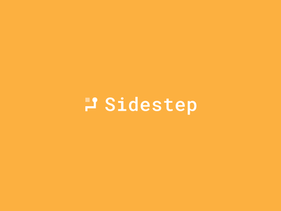 Sidestep logo symbol mark icon branding monospace illustration shapes geometric obstacles minimal modern