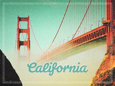 California california san francisco retro