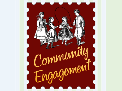 Community Management community engagement red yellow stamp