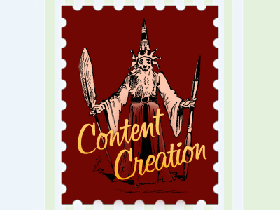 Content Creation content creation red yellow stamp