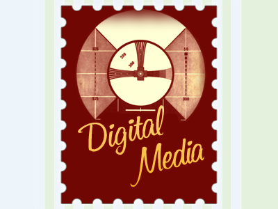 Digital Media digital media red yellow stamp