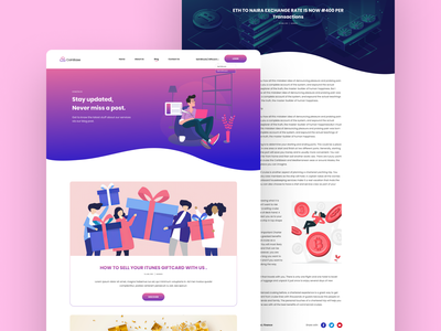 Blog Page giftcards gradient color blog post bitcoin services bitcoin illustrations website design product design ui  ux ui ui ux design