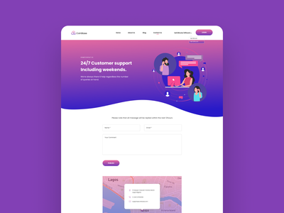 Contact Page contact page contact us giftcard bitcoin wallet bitcoin gradient color lagos nigeria gradient concept illustration ui ui  ux ui ux design