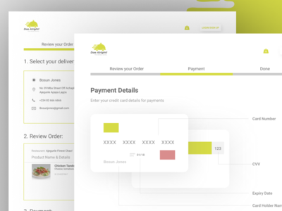Order Review/Payment Page