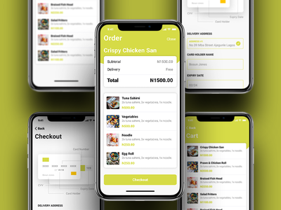 Cart/Order/Checkout Page checkout process checkout page add to cart food delivery app delivery concept app ui ux design ui ux mobile app food delivery app restaurant app concept ui  ux food delivery local design restaurant food and drink