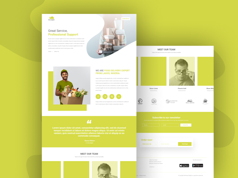 About Us illustraion typography composition layout food and drink restaurant ui ux design brand ui  ux food delivery illustration minimal about us about page