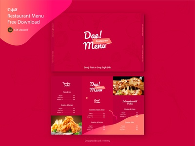 Restaurant Menu Freebie