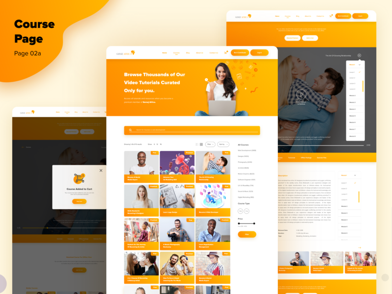 Courses 02a cart add to cart inspiration course page pages composition layout uiuxdesigner youth happy design product design visual design uiuxdesign design