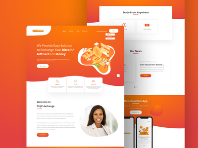 Landing Page solutions nigeria gift cards bitcoin exchange bitcoin services landing page design landingpage