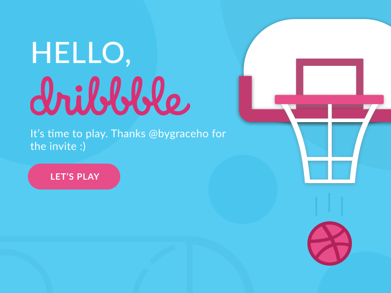 Hello, Dribbble! dribbble debut figma graphic design ui