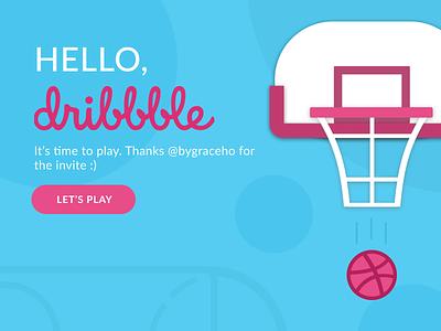 Hello, Dribbble! dribbble debut figma graphic design ui
