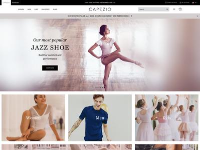Capezio | UX & UI Redesign