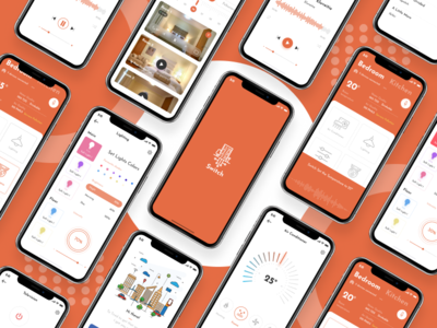 Switch Smart home iphone x ui ux app mobile green eco-friendly smart home switch africa figma design