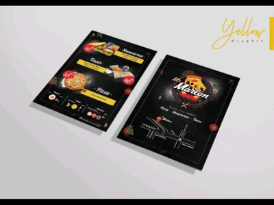 Flyer menu design