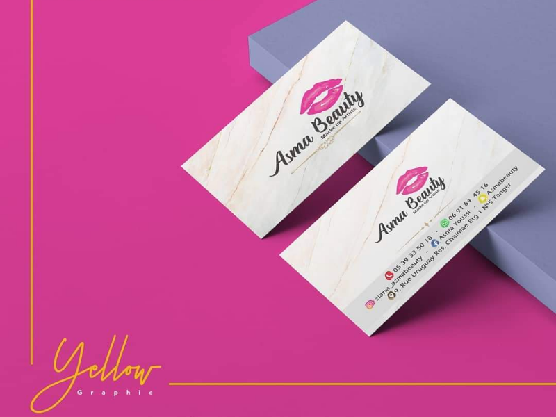 Carte visite pink design card
