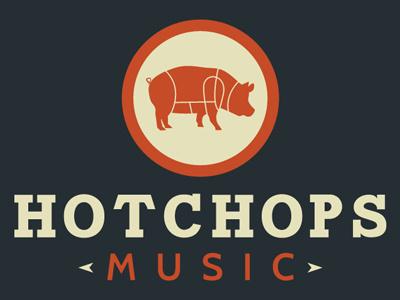 Hot Chops Music Logo logo branding identity bold music mark ambient media